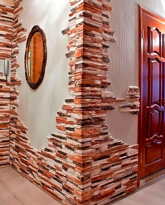 Декоративный камень в коридоре своими руками
